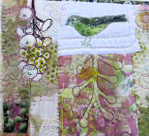 Poke Salad Annie Series ~ Green Bird (detail)
