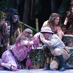 Arvada Center Tarzan pictured center L-R Shannan Steele (Kala), Colin Alexander (Porter), Brian Ogilvie (Tarzan) and Ensemble Photo P. Switzer 2014 -