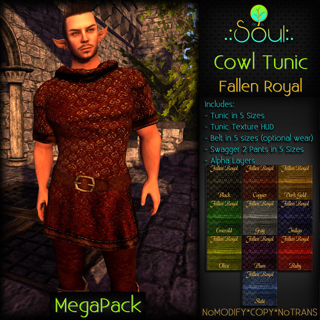 2014 Cowl Tunic FR - Male - MegaPack
