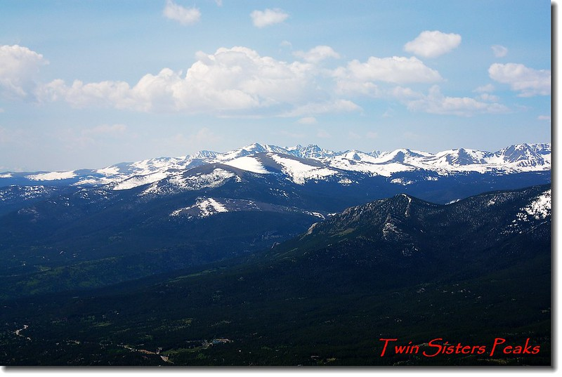 Twin Sister 山頂遠眺Indian Peaks