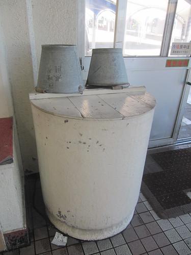 金沢競馬場の防火水槽