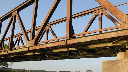 Remake des vorjährigen (November) Fotos der alten Eisenbahnbrücke; Norderstapel, Stapelholm (2)