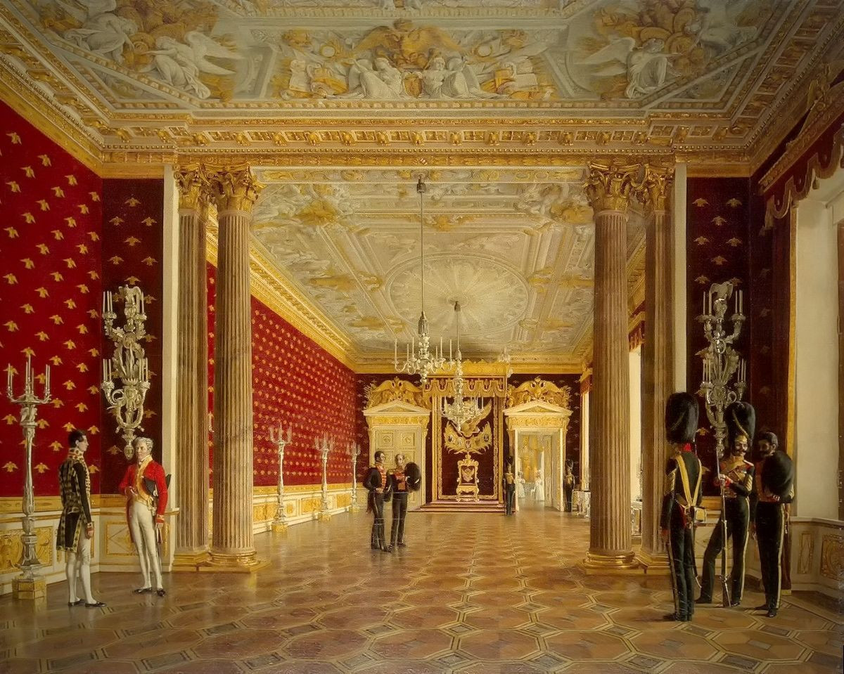 The Throne Room of Empress Maria Fiodorovna, 1831