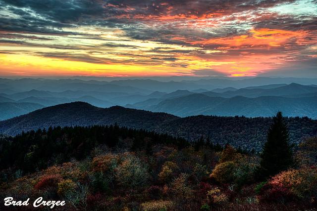 Sunset at Cowee Mountain Overlook