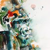Watercolour of a gorilla from a great photo on 'paint my photo'....such a super resource for artists. I've been asked to paint a few 'exotics'. I usually like to find beauty in the mundane, but having a go...