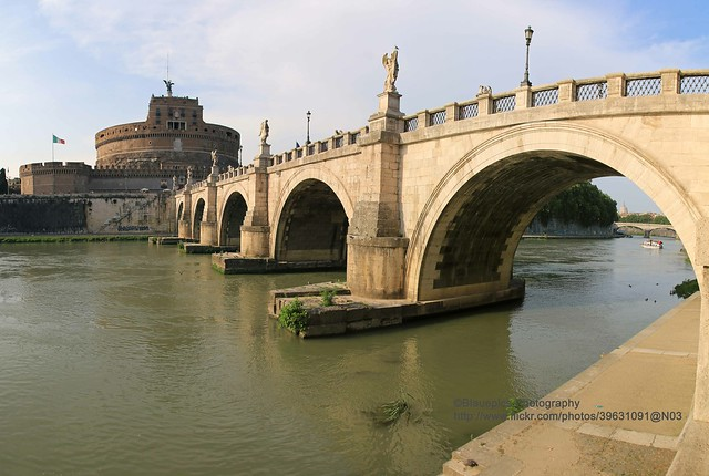 Rome, Castel Sant'Angelo, bridge