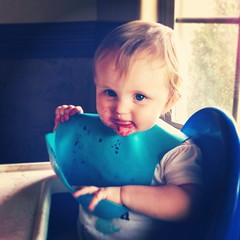 Blueberries with Layla