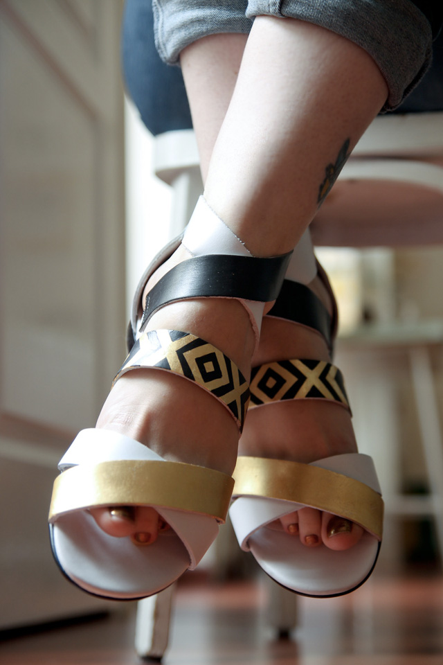 DIY Gatsby Sandals