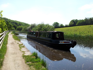 Narrowboat on the Huddersfield Narrow Canal at Golcar - May 2012