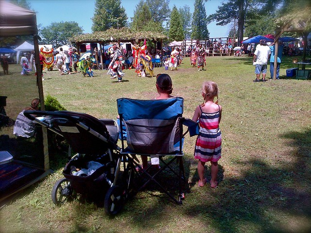 Family at the pow wow