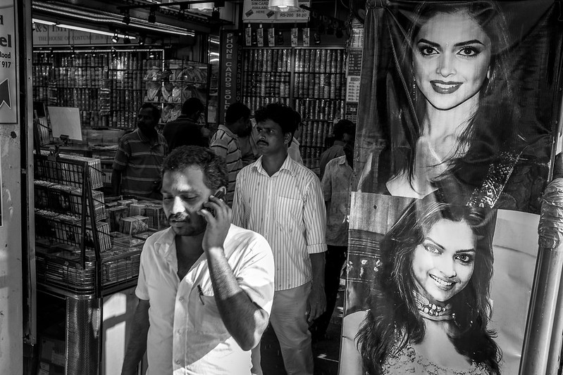 A man on the phone in Little India
