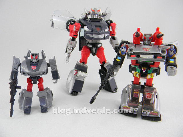 Transformers Bluestreak Legends - Generations GDO - modo robot vs G1 vs Henkei
