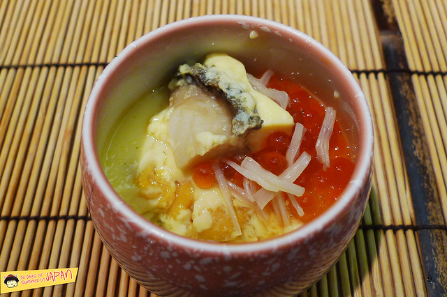 Sushi Sho - Tokyo - uni, abalone, ikura, scallop chawamushi 2