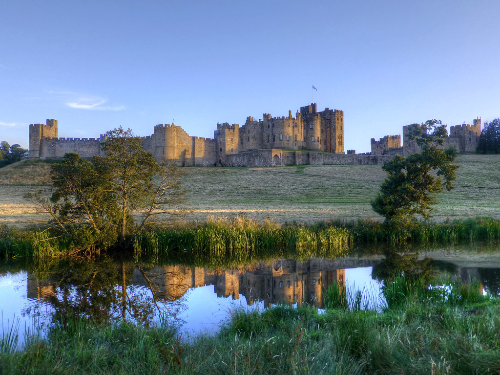 Alnwick Castle and River Aln