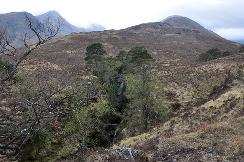 Waterfall below Carn na Nathrach