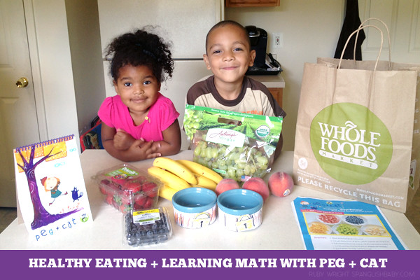 healthy eating + learning math with peg + cat