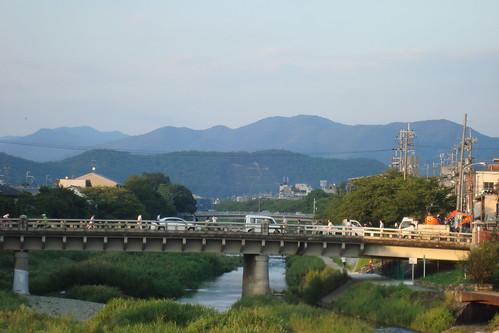 """2013/09 高野川と""""法""""の字"""
