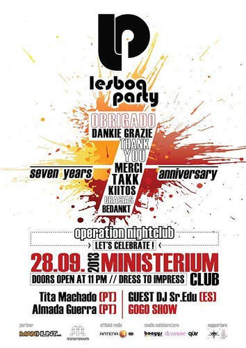 Lesboa Party. 7th Anniversary. Official poster