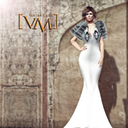 [VM] VERO MODERO Inci Gown White