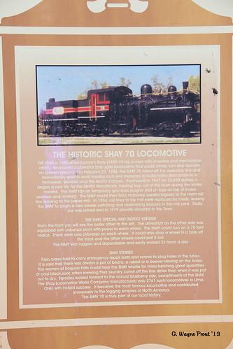 canada canon steamlocomotives shaylocomotives historicplacard canoneos60d shay70steamlocomotive abitibipowerpaperco iroquoisfallsontario historicansonpark limaohiousa