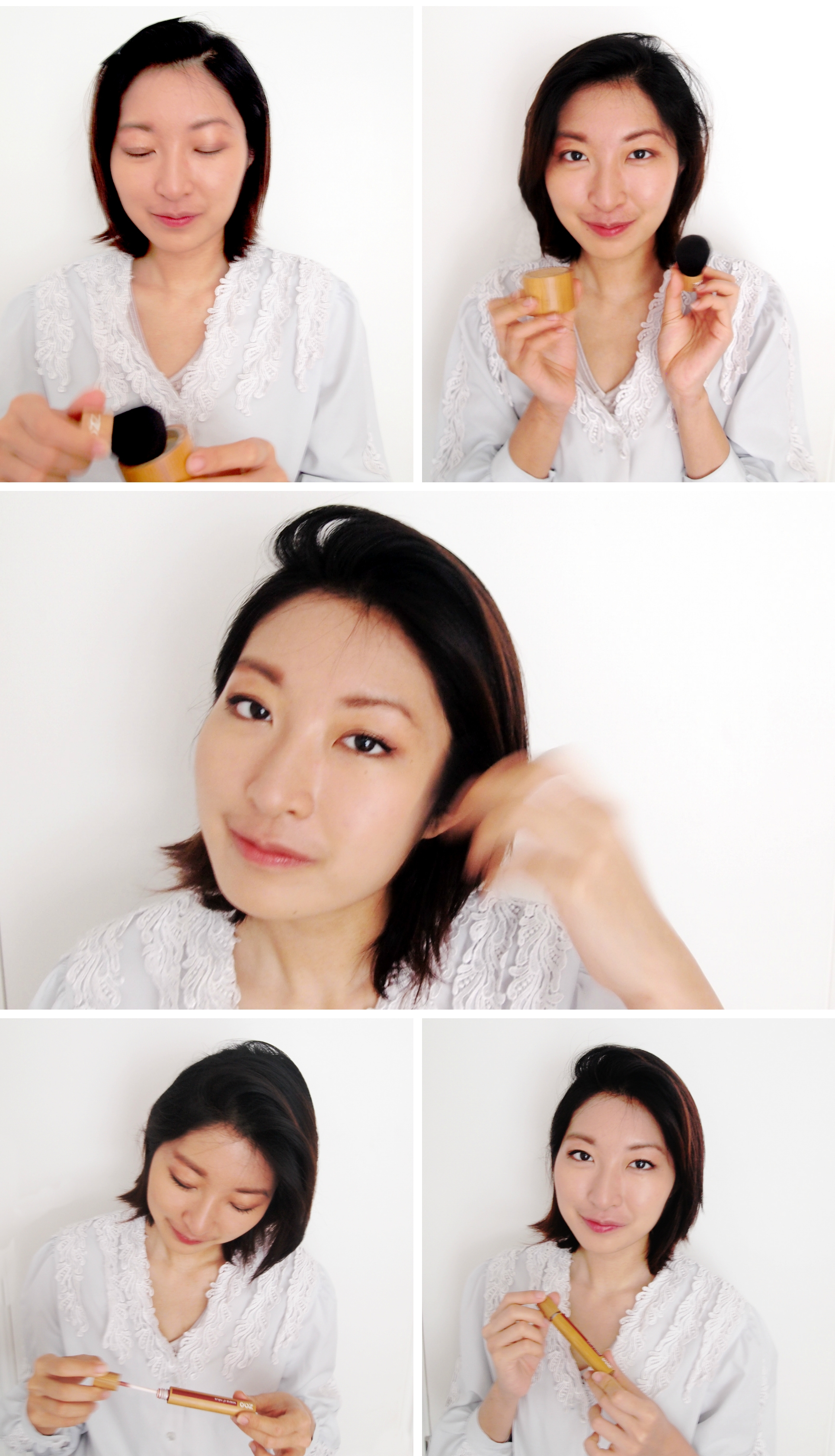 Zao Cosmetics natural makeup look