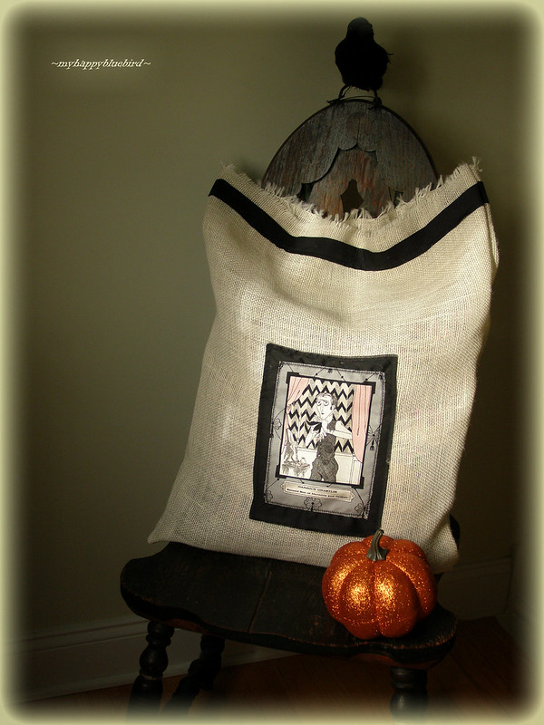 ~ burlap sack style pillow cover...