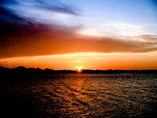 sunset lake rock canon austin dusk powershot round pflugerville a400