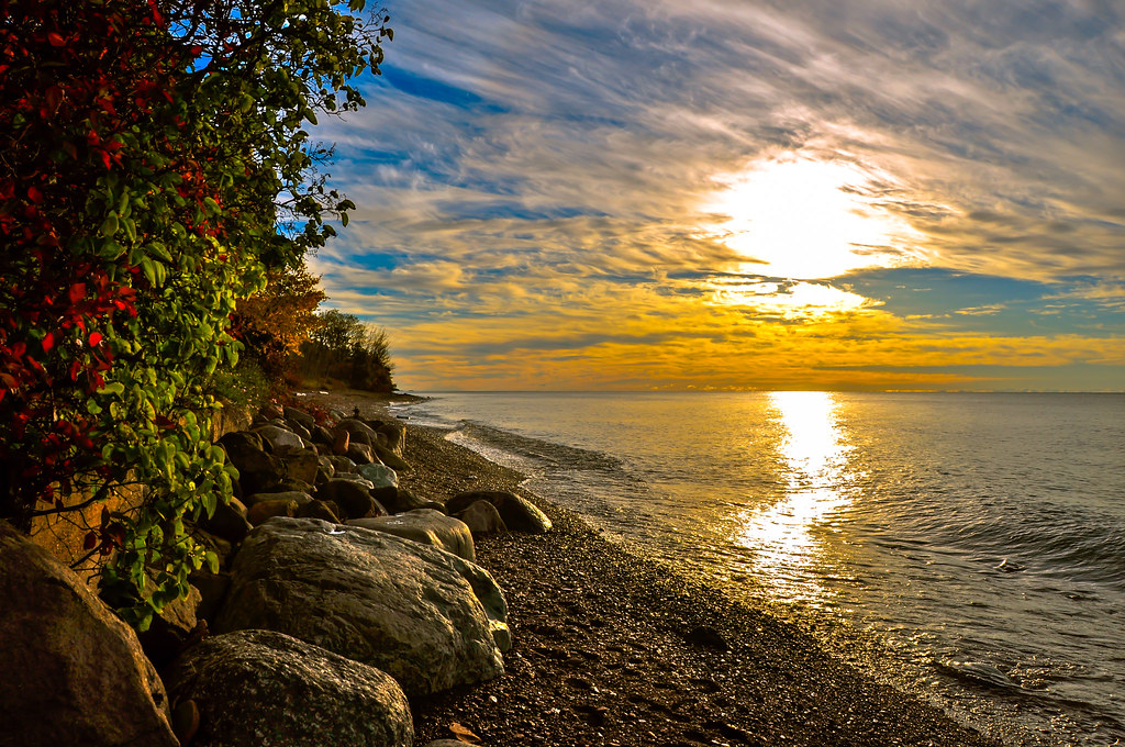 Sunrise in Grand Marais, Minnesota