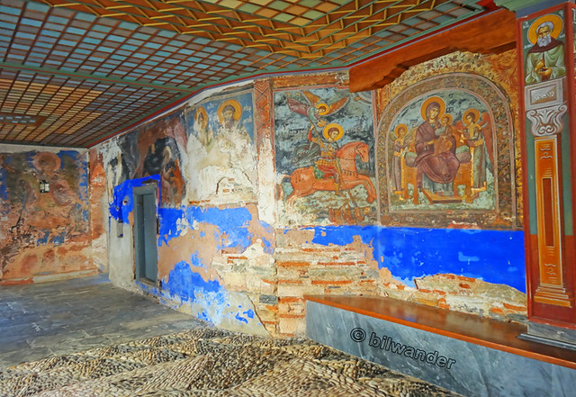 Macedonia greece dochiariou greek orthodox monastery for Ancient greek mural