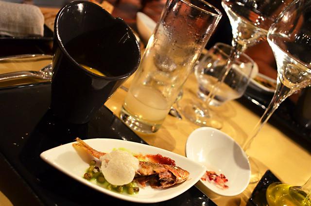 Amuse bouche, MEO Restaurant, Tarrascon, Provence, France