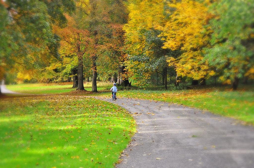 Autumn Family bike ride in Scotland