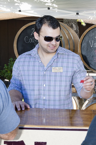 Trading tickets for barrel tastes at harvest festival in Temecula Valley, by Crispin Courtenay