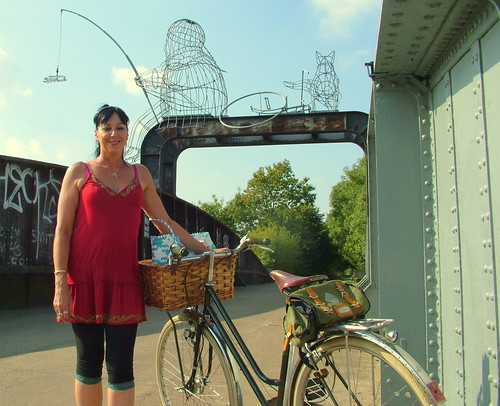 Flashback to Summer. Raven with the Tour De Suisse, on Naburn Swing Bridge