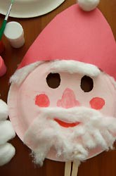 santa mask, santa claus craft, kids christmas craft