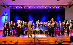 Brassbandfestivalen 2013 - Åsenhöga Missionskyrkas Brass Band, dirigent Patrik Randefalk (Foto: Annette Forsberg)