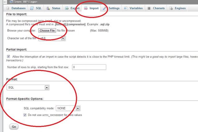 WP Engine migration involves importing current WordPress database