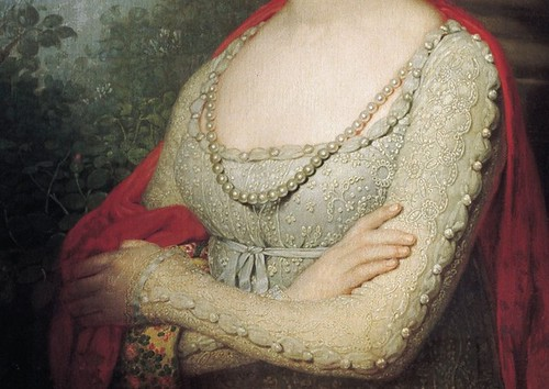 Vladimir Borovikovsky, Portrait of Maria Pavlovna Detail, 1800s