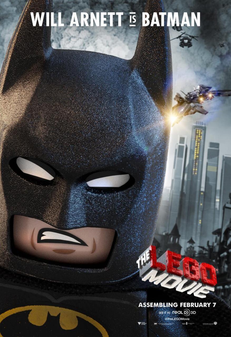 乐高大电影蝙蝠侠版的新海报