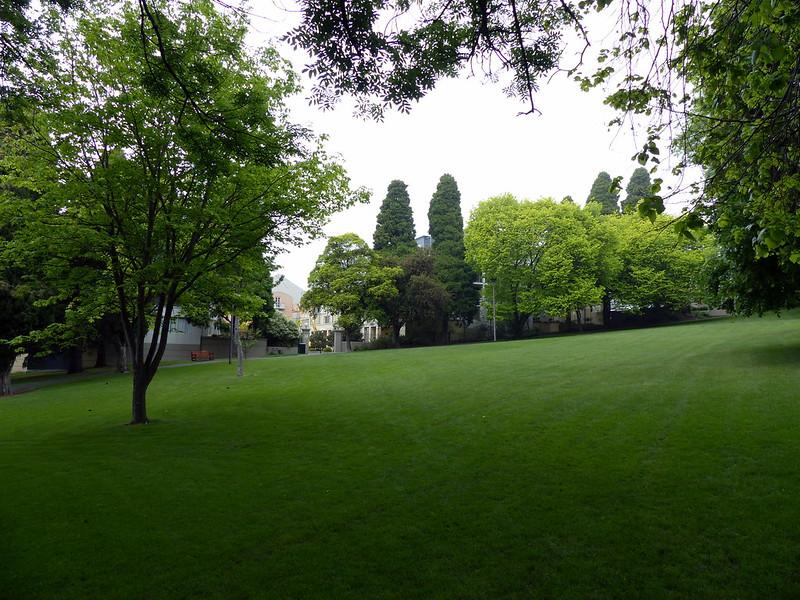 8 of 12: Back through St David's Park, it begins to rain