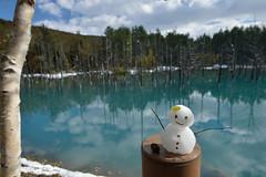 Snowman @ Blue Pond