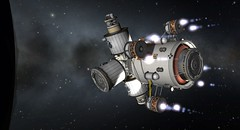 astronaut(0.0), screenshot(0.0), space station(1.0), vehicle(1.0), space(1.0), outer space(1.0),