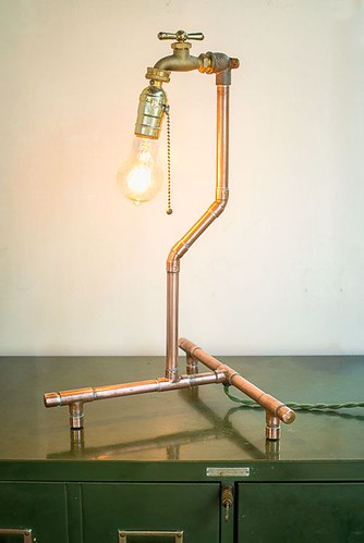 Table Lamp by Nine & Twenty, Industrial Metal Decor