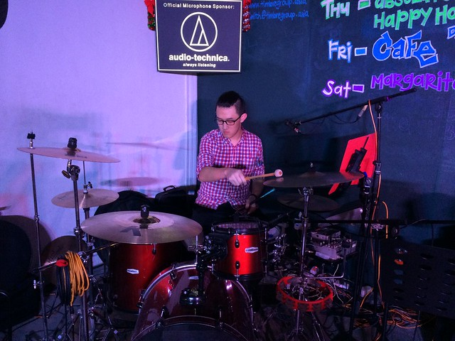 Peter Yeo on drums