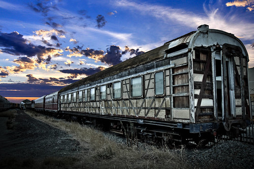 Old Train carrage in Midland waiting to be restored