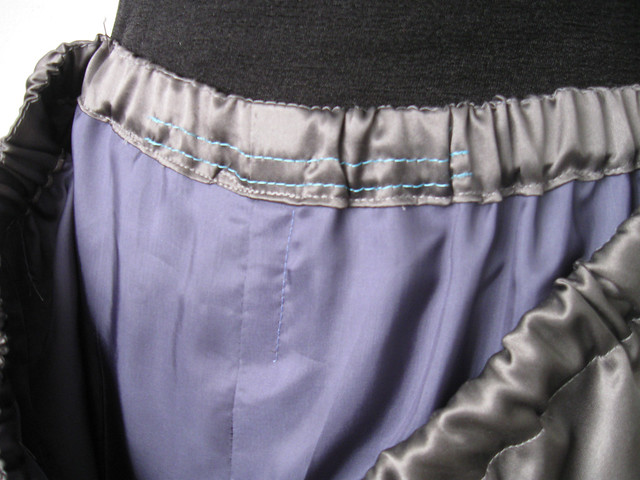 Silk pants inside