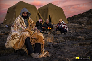 Campers from Ajman, in the mountains of Jebel Shams, Sultanate of Oman