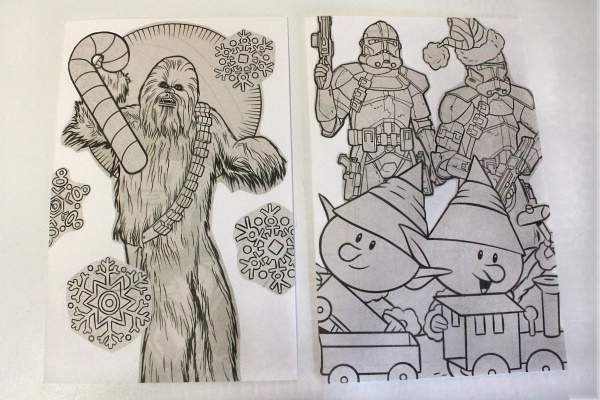 Star Wars Xmas Cards, uncolored