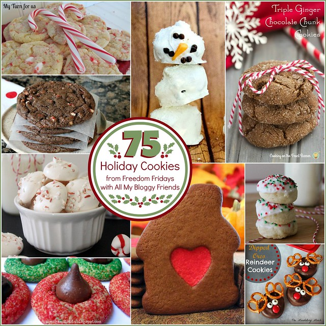 75 Holiday Cookies from Freedom Fridays collage.