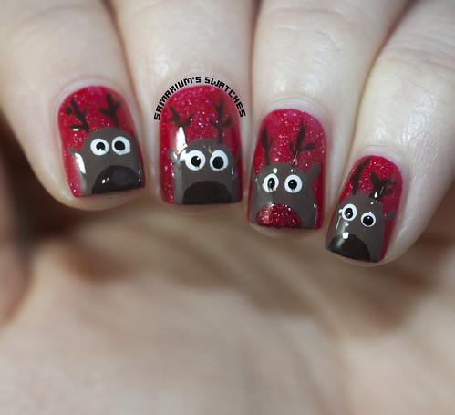 Reindeer nail art (1)