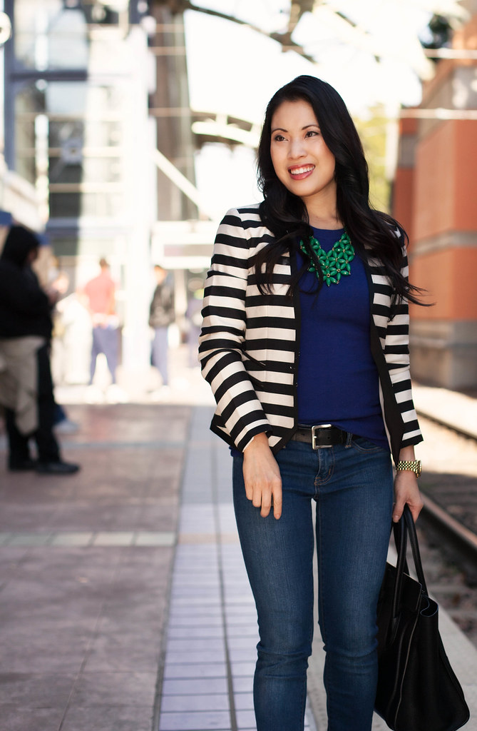 Black And White Striped Blazer Outfit i Love Black And White Stripes